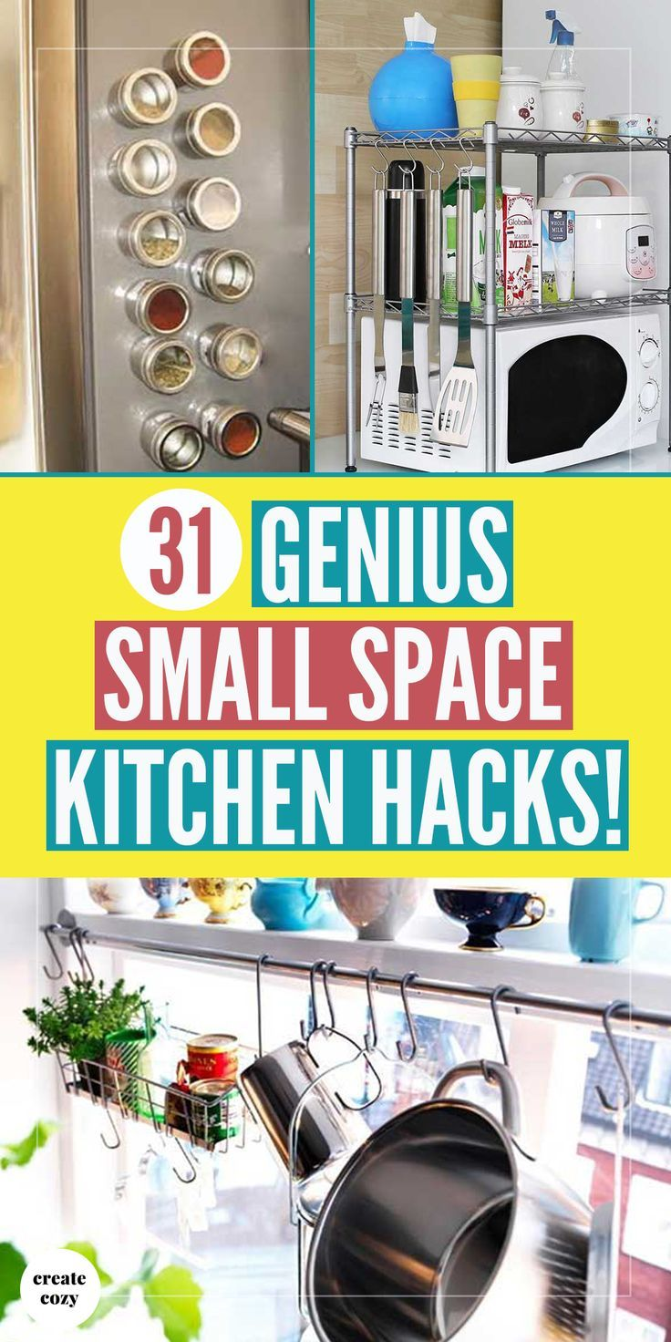 31 Genius Small Space Kitchen Hacks Small Space Kitchen Tiny