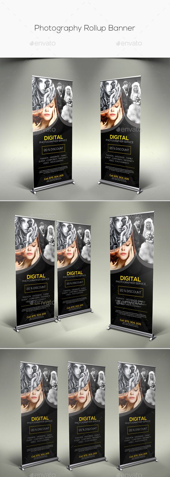 Photography Rollup Banner Template #design Download: http://graphicriver.net/item/photography-rollup-banner/11279958?ref=ksioks
