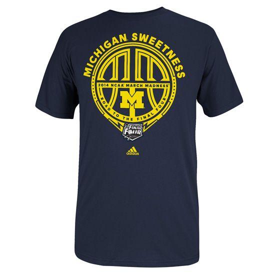 Adidas University of Michigan Basketball Sweet 16 Navy ''Hotspot'' Tee