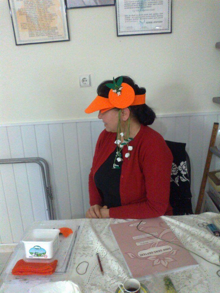 Portakal çiçeği karnavalı 3. yılına özel tasarım siperlik şapka