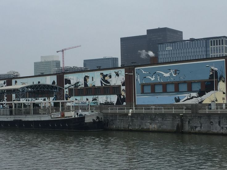 Brussels Canal mural