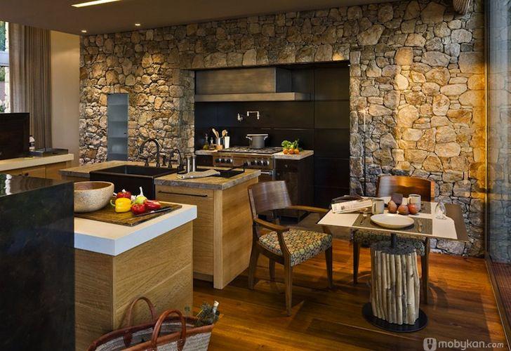 صور مطابخ حديثه و اشكال مطابخ مودرن و مميزه من موبيكان Stone Kitchen Design Minimalist Kitchen Design Interior Design Kitchen