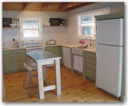 21 best images about sherwin williams svelte sage on pinterest for Sage green kitchen cabinets with white appliances