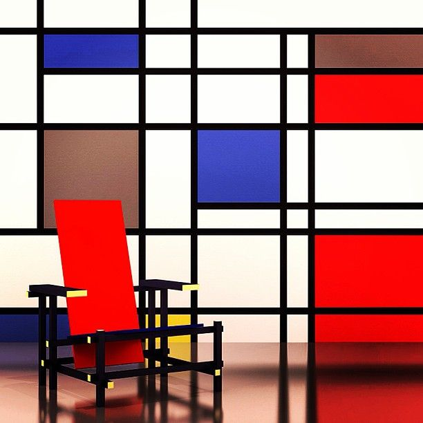 the red blue chair by gerrit rietveld istem bel. Black Bedroom Furniture Sets. Home Design Ideas