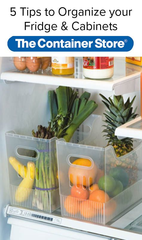 You Could Use A Pretty Bowl, Too. Fridge/ Freezer Tips From Container Store