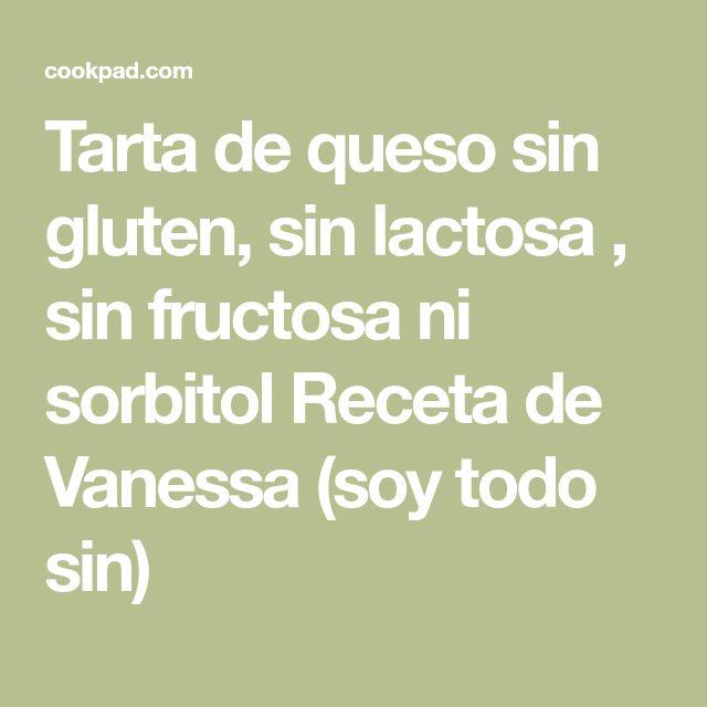 Tarta de queso sin gluten, sin lactosa , sin fructosa ni sorbitol Receta de Vanessa (soy todo sin)