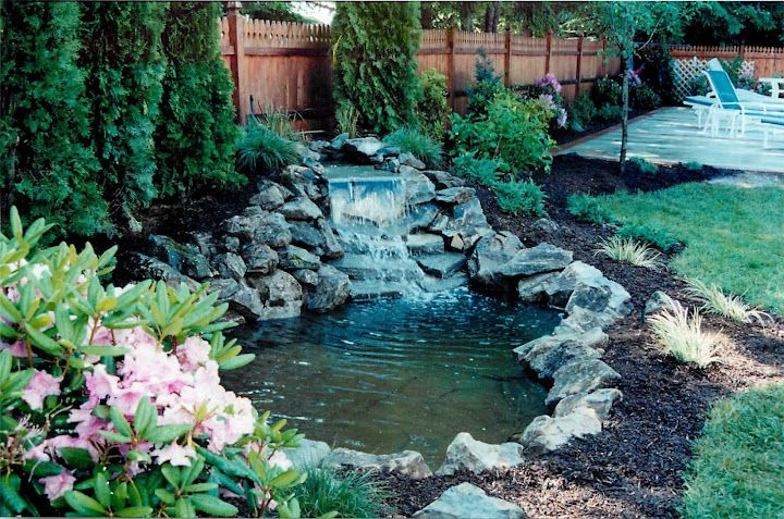 Pond waterfall ideas waterfall design ponds and for Garden design with pond and waterfall