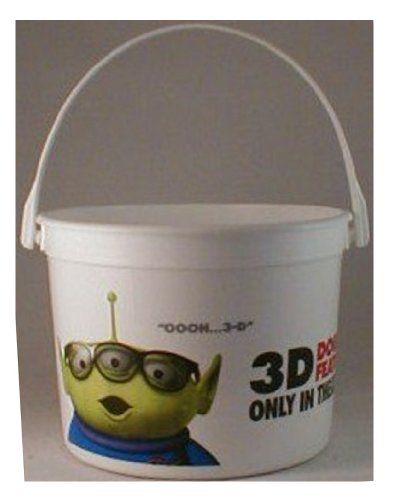 Toy Story 3D Double Feature Theater Exclusive Promotional 64 Oz Plastic Popcorn Tub @ niftywarehouse.com #NiftyWarehouse #Toy #Story #Movie #ToyStory #Pixar