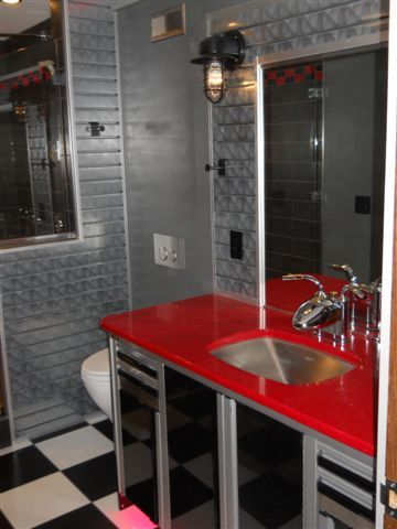 193 best images about spartan on pinterest stove for Garage bathroom ideas