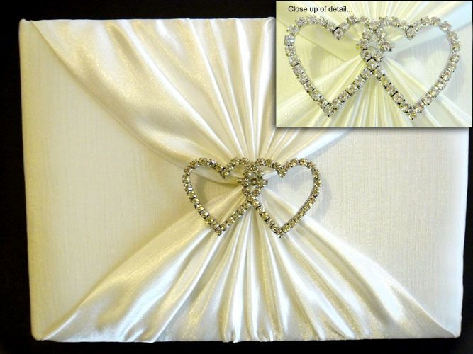 Guest Book with Diamante Hearts http://www.aussieweddingshop.com.au/Product/47/guest-book-with-diamante-hearts