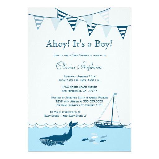 Blue nautical sailboat baby boy shower invitation http://www.zazzle.com/blue_nautical_sailboat_baby_boy_shower_invitation-161408758778006544?rf=238194283948490074tc=pfz