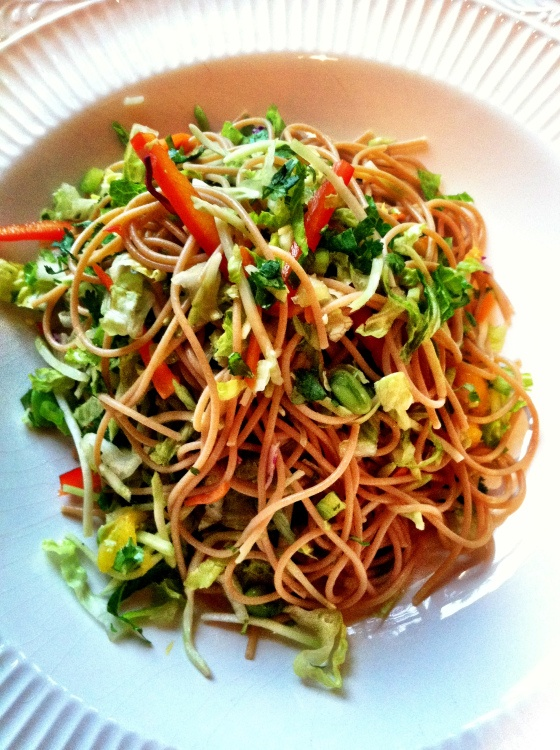 Asian noodle salad: Deanie Sept. 2013: add 1 T oyster sauce, reduce ...