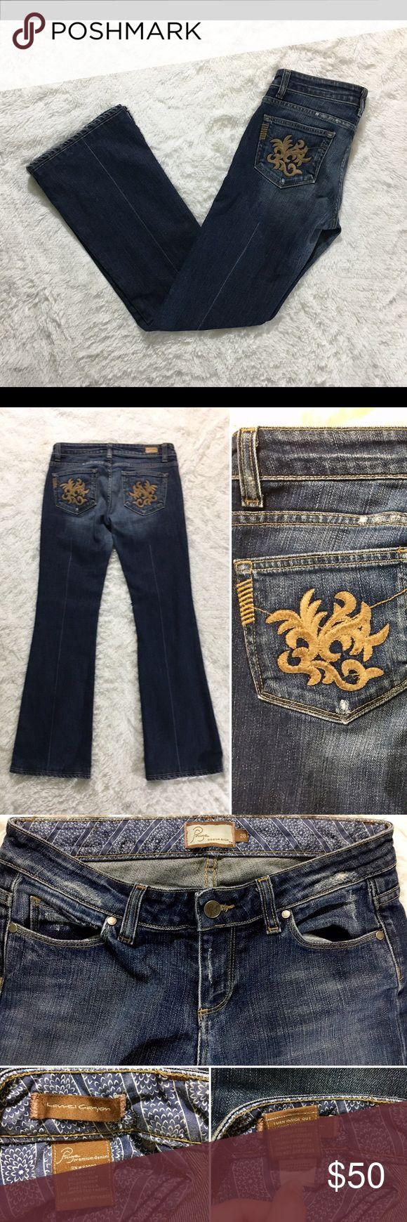 """🆕💛 Paige Premium Denim Size 28 EUC, don't show wear! --  PAIGE Premium Denim Laurel Canyon --  Size 28, 37.5"""" long, 31"""" in seam, 15.5"""" across Waist laying down --  Material: 98% Cotton, 2% Spandex --  Description: Bootcut, medium wash, stretchy jeans Paige Jeans Jeans Boot Cut"""