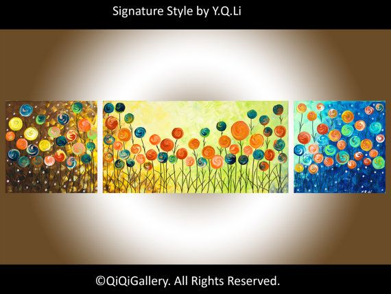 48 art painting Acrylic Landscape Painting wall by QiQiGallery