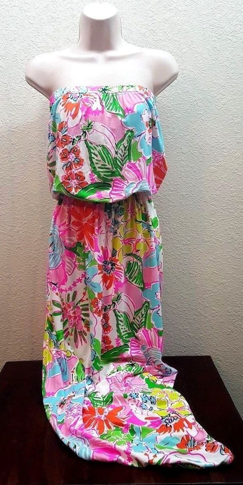 LILLY PULITZER for Target Women's Strapless Maxi Dress Small  Nosie Posey NWT #LillyPulitzer #Maxi #Casual