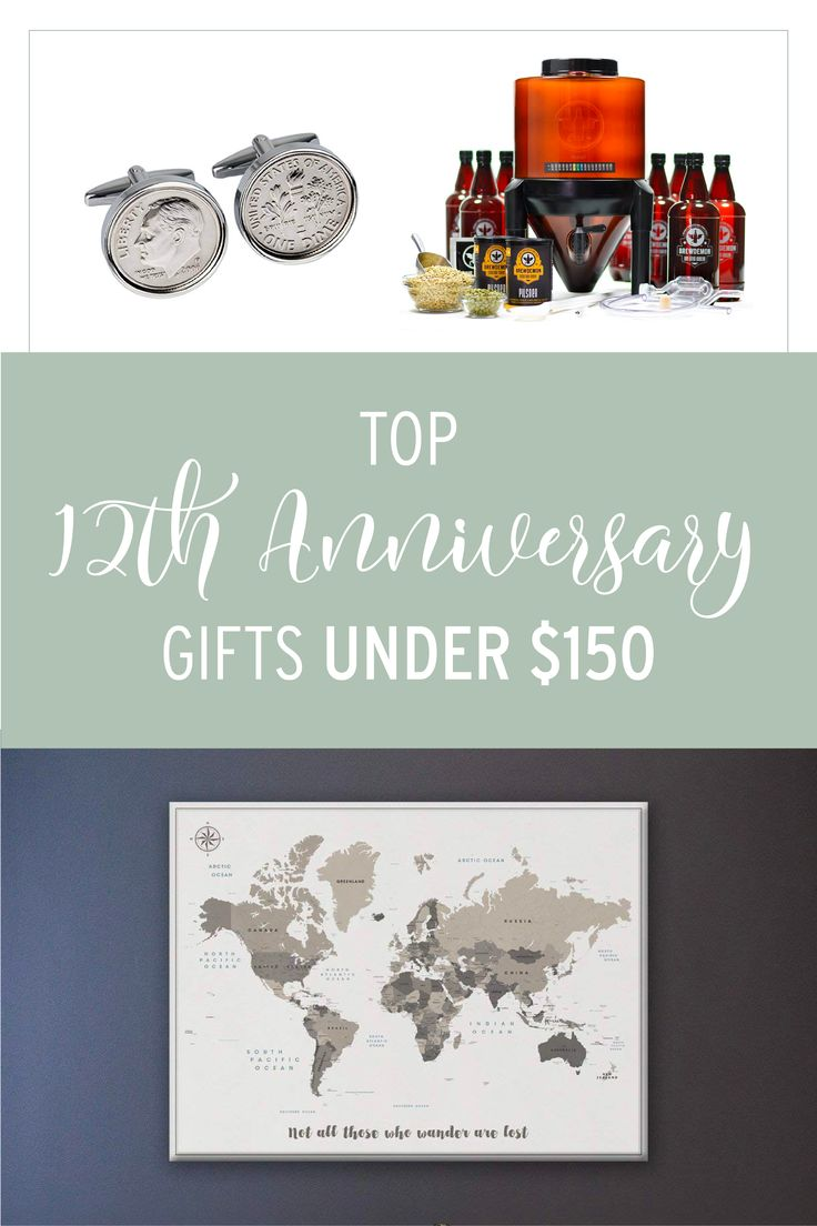 12th anniversary gifts for him under 150 12th