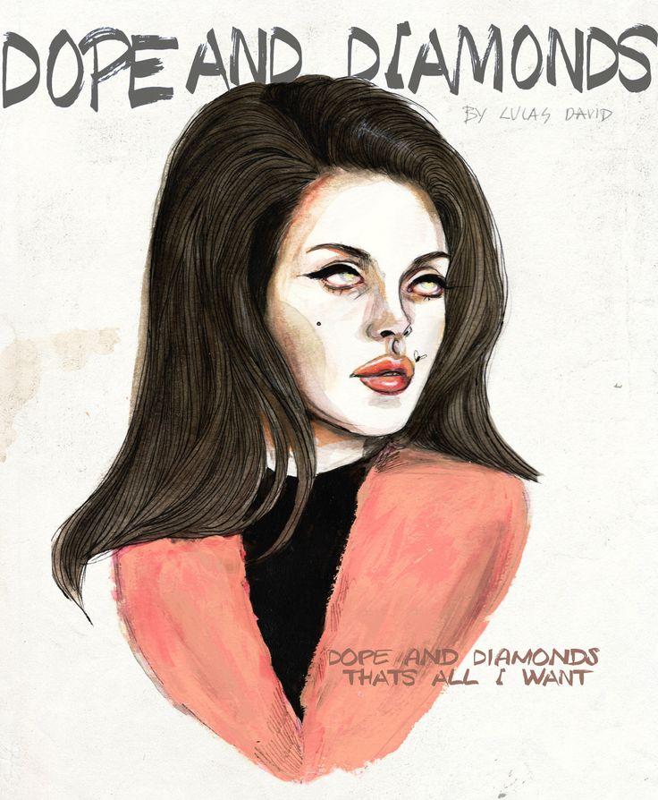 Lana Del Rey #LDR #Money_Power_Glory #art by Lucas David