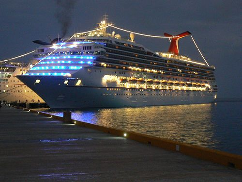 Carnival Liberty with Lights. Tips for your first cruise