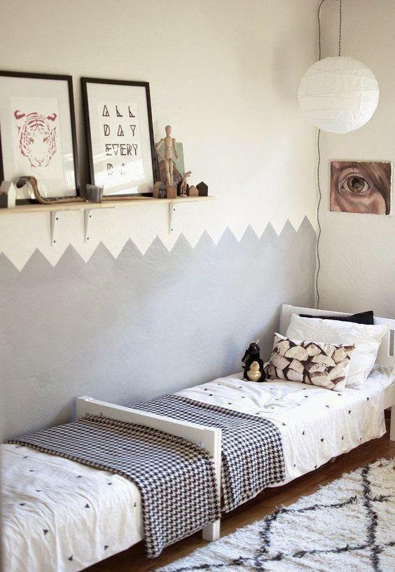 Pintar las paredes del dormitorio de los niños, es la nueva tendencia en decoración infantil. ~ The Little Club. Decoración infantil para bebés y niños.