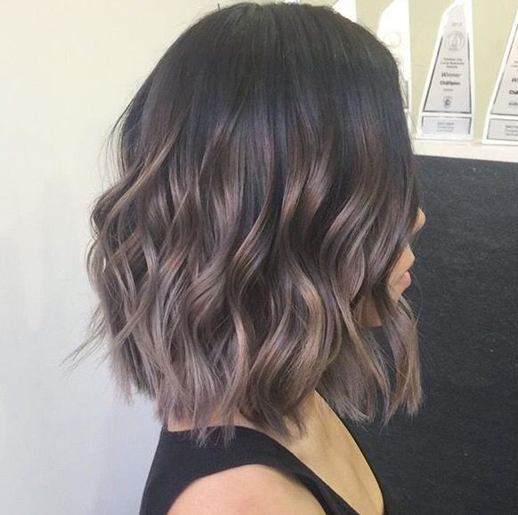Balayage On Short Brown Hair | Dark Brown Hairs