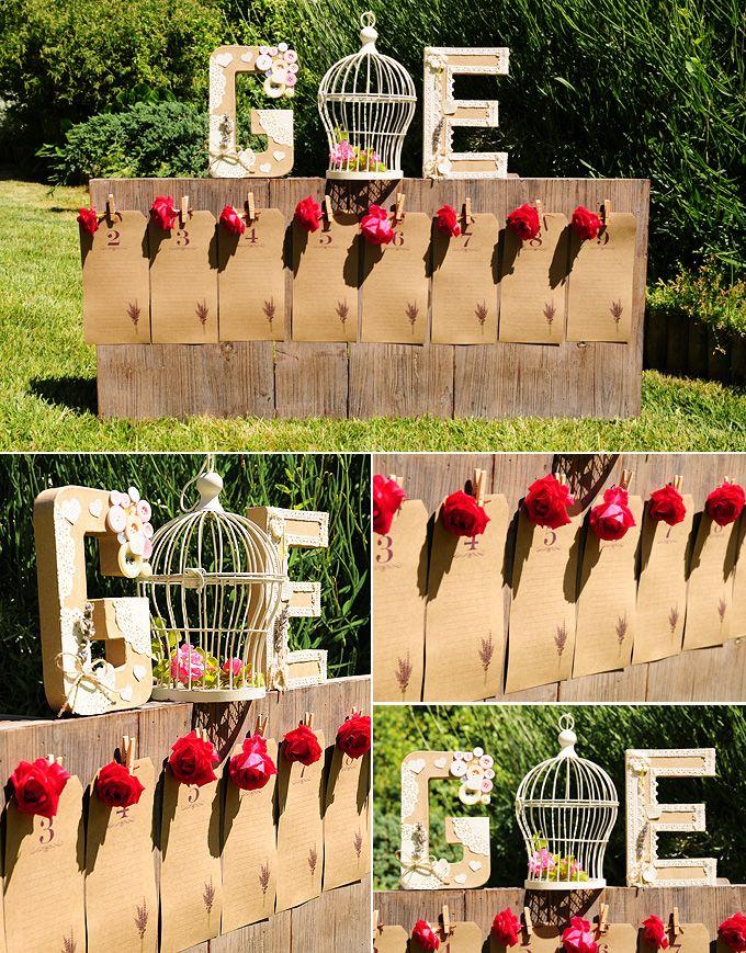 Ideas para organizar a los invitados de tu boda etiquetas kraft para las listas de invitados - Bodas originales ideas ...