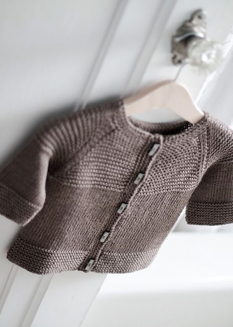 Garter Yoke Baby Cardi by Jennifer Hoel free knitting pattern on Ravelry at http://www.ravelry.com/patterns/library/garter-yoke-baby-cardi