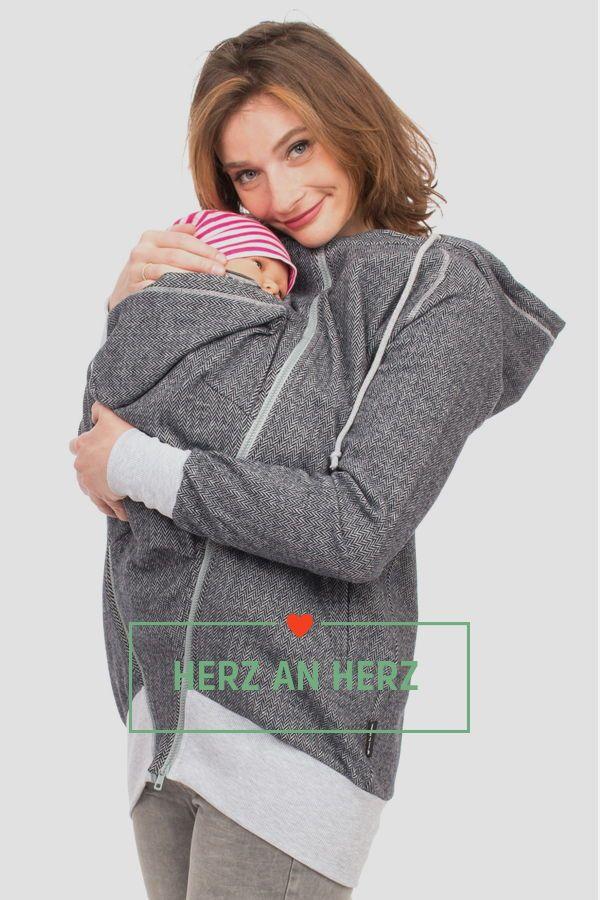AVENTURIS Viva la Mama 4in1 Tragejacke f/ür Tragen auf dem R/ücken oder der Brust Softshell K/ängurujacke Umstandsjacke