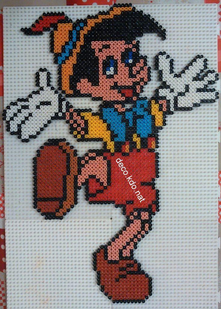Pinocchio  hama beads by DECO.KDO.NAT