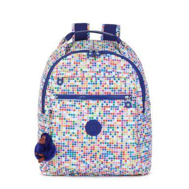 Micah Printed Laptop Backpack - Tile Dream