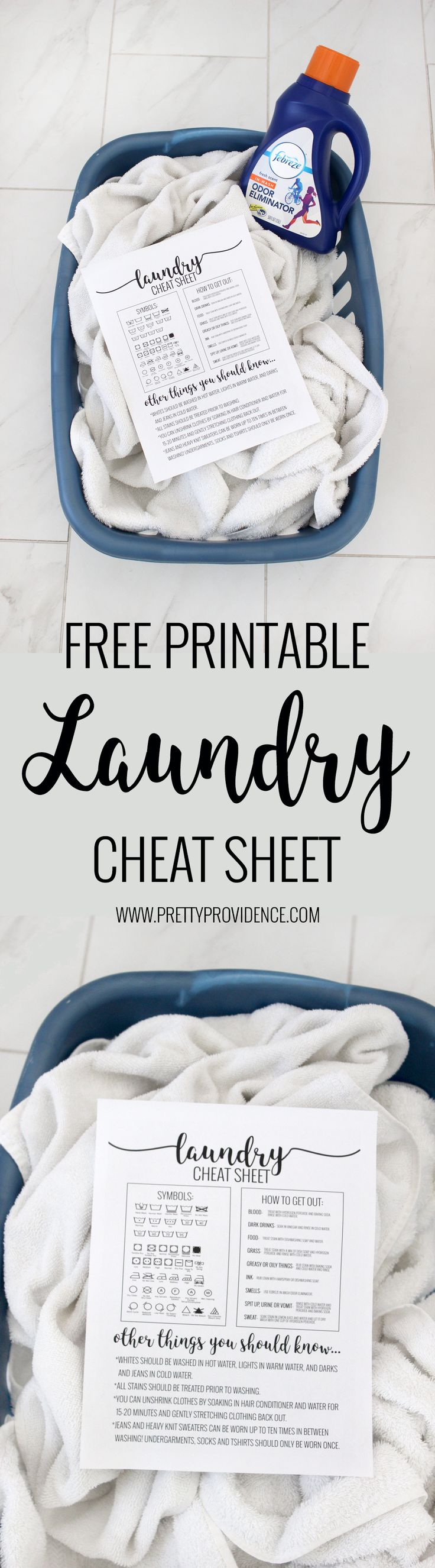 Okay this laundry cheat sheet is LIFE CHANGING! Super easy reference guide on how to get out virtually anything- and knowing what all the symbols mean at a glance! Must save. #stayfresh #sponsored #laundry