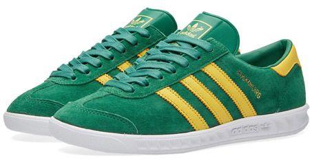 Adidas Hamburg trainers reissued in green suede
