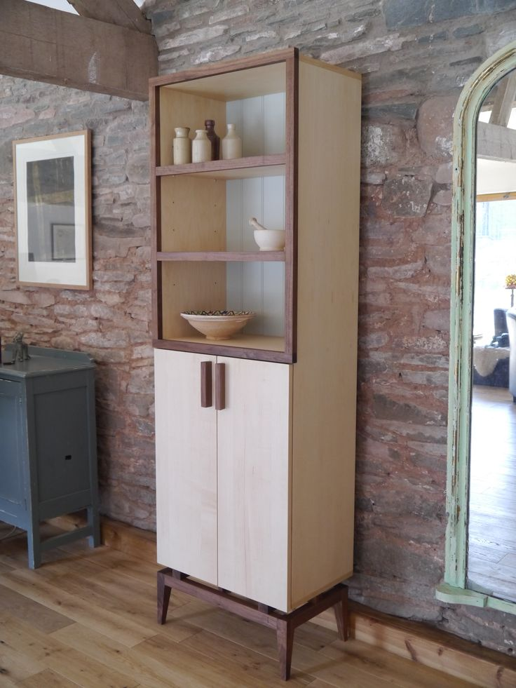Stilt Cabinet made from Black Walnut and veneered Maple by Barnby & Day