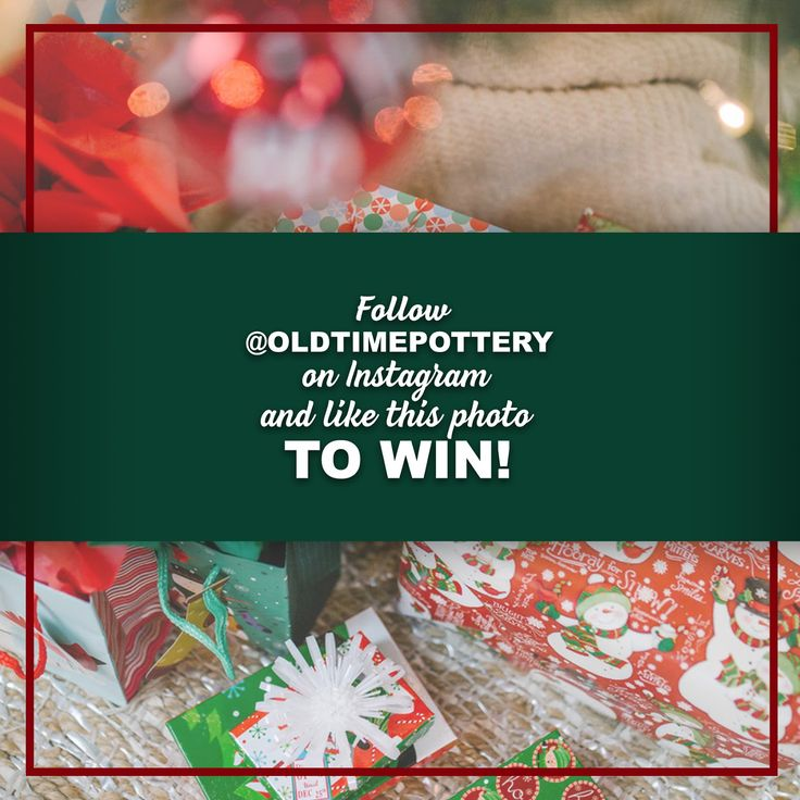 Want to win a $50 gift card to Old Time Pottery for the holidays? Follow us on Instagram at @oldtimepottery and like this photo (from 10/30) to enter: https://www.instagram.com/p/Ba4HrkMBTZ3/?taken-by=oldtimepottery