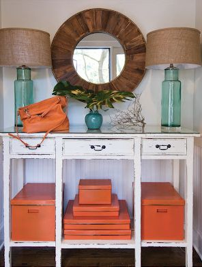 hermes orange hallway