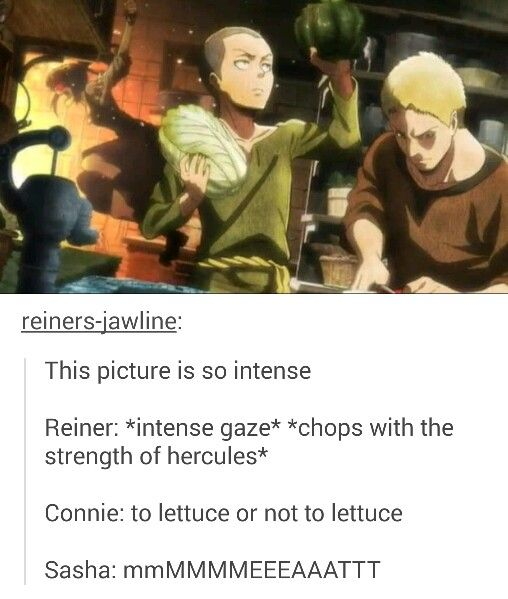 And then you also have Reiner who is concentrating on not cutting his finger..