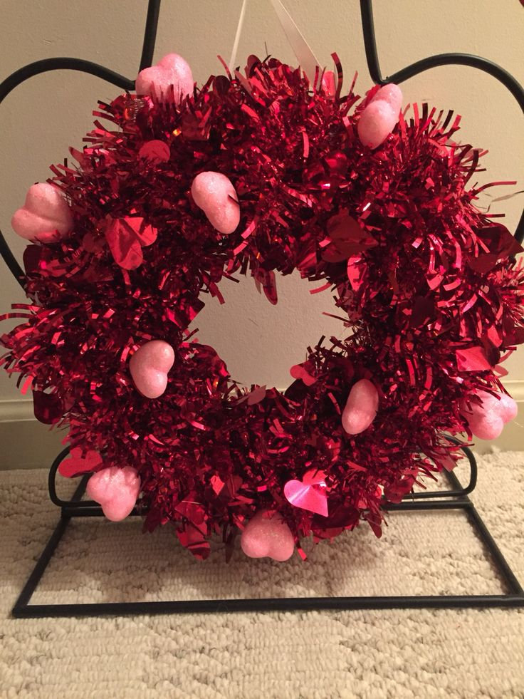 Dollar Store Diy Valentine S Day Wreath Made With 3 Packs Of Dollar