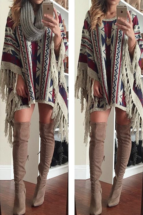 Big Sale, $28.99 Off Now! Free shipping & Easy Return+Refund ! Tassel jacquard sweater is sure to get your attention, casual style is perfect for fall fun! Can Not deny it at Cupshe.com !
