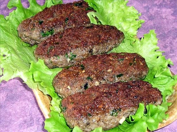 Turkish Meatballs - Kofta. Made these tonight, super tasty! A few notes - I used beef and store-bought breadcrumbs, but ONLY 1/2 cup. A full cup is wayyy too much. I dumped everything in the bowl, mixed and made the finger shape. Excellent with tzatziki in a pita