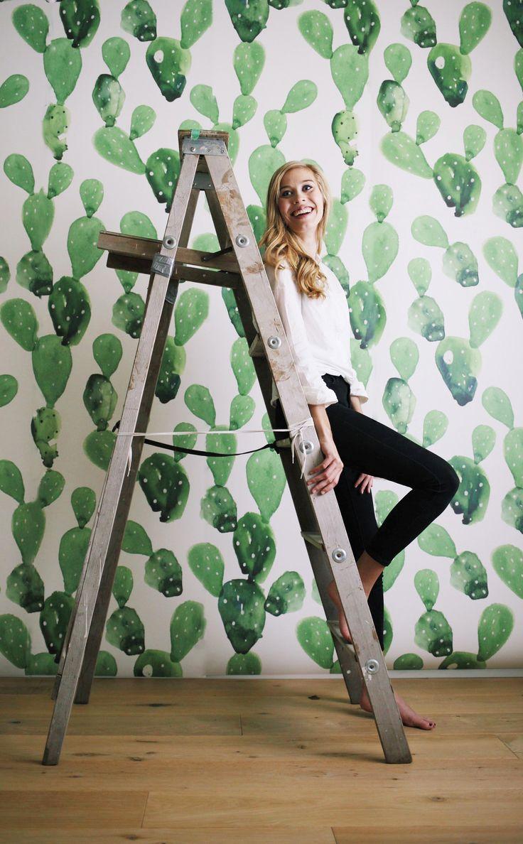 cactus mural / watercolor art