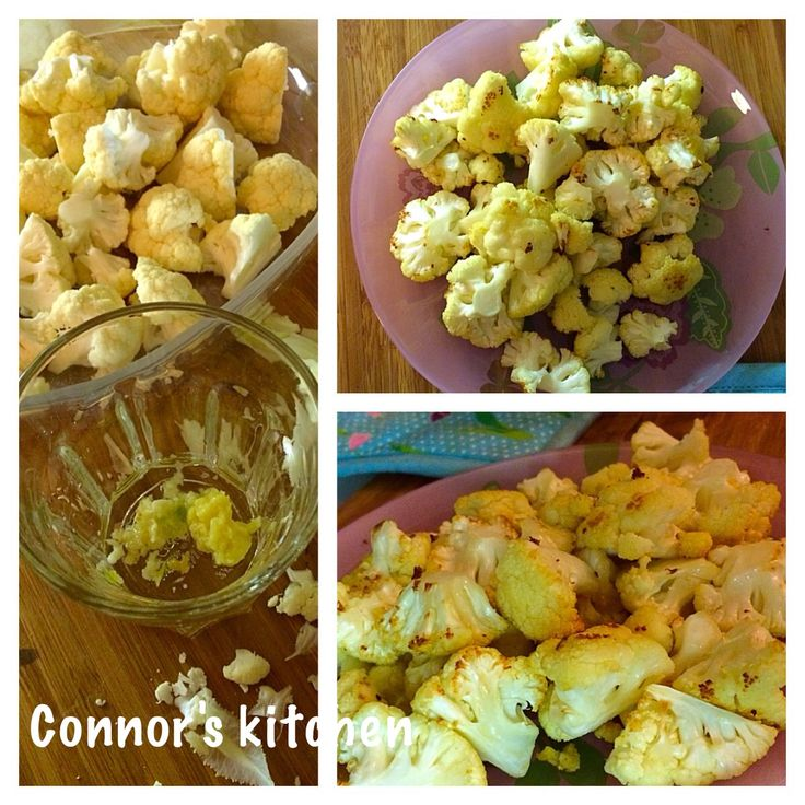Roasted cauliflower with garlic and ginger