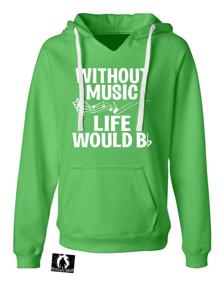 Womens Without Music Life Would B Flat Funny Music Lovers Deluxe Soft Hoodie