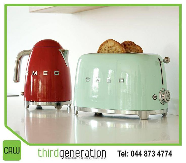 At #ThirdGenerationCAW, we stock a wide range of #Smeg appliances, which combine technology with Italian style. Visit us or contact us on 044 873 4774.