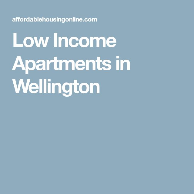 Low Income Apartments in Wellington