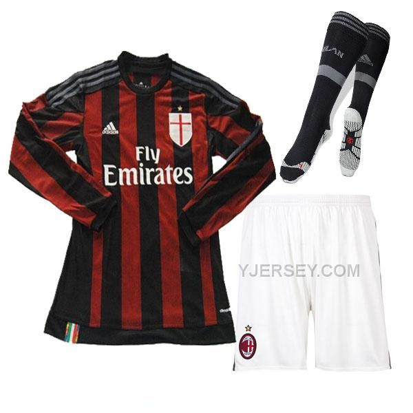 http://www.yjersey.com/1516-ac-milan-home-long-sleeve-jersey-whole-kitshirtshortsock.html Only$45.00 15-16 AC MILAN HOME LONG SLEEVE JERSEY WHOLE KIT(SHIRT+SHORT+SOCK) Free Shipping!