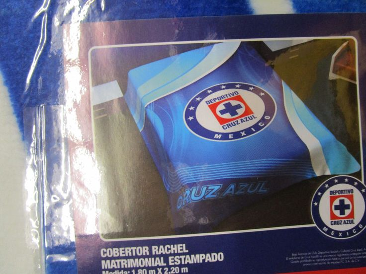 Blanket Club Deportivo Cruz Azul Soccer Team  Official Product 1.80 x 2.20 m