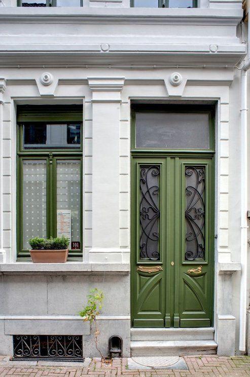 Dubbele voordeur: Art nouveau
