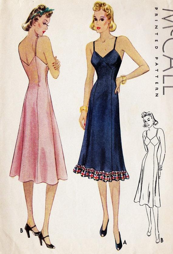 1930s Misses Slip Vintage Sewing Pattern
