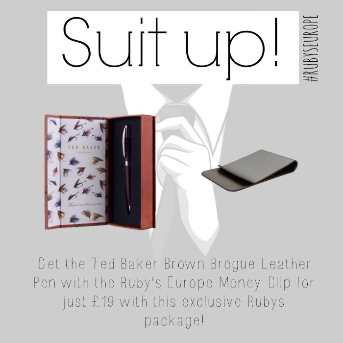 Ted baker pen and rubys silver plated money clip at an amazing price! Shop now at www.rubyseurope.com