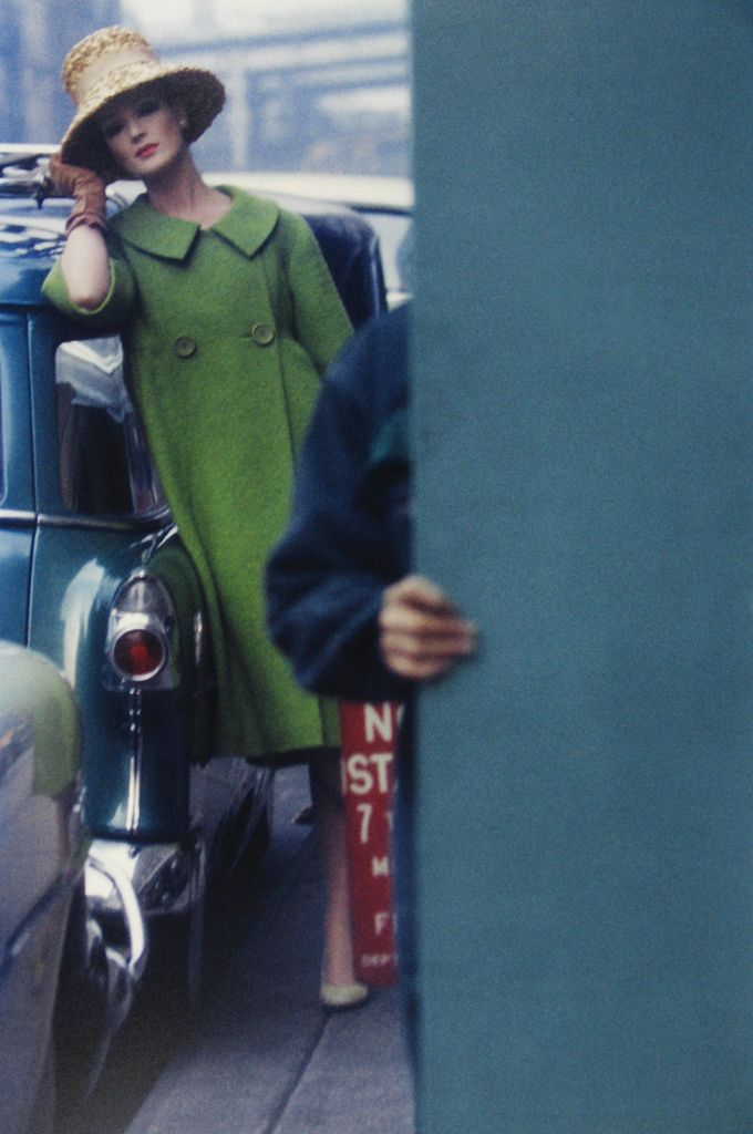 Photo: #Saul Leiter for Harper's Bazaar. As Helmut Newton said, the best fashion photographs are the ones that don't look like fashion photographs.