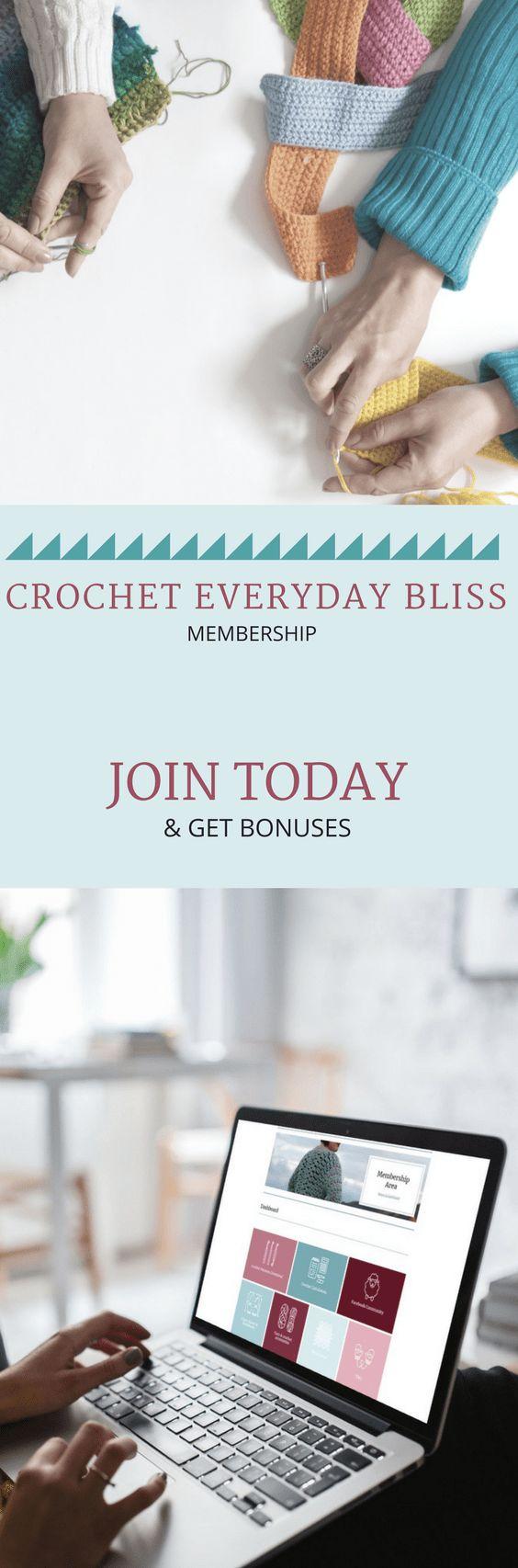 Crochet Everyday Bliss. A crochet membership. Crochet patterns. Crochet Calculators. Crochet Resources. Crochet community.   #crochetpattern #crochet #crochetcommunity #crocheteveryday #crocheteverydaybliss